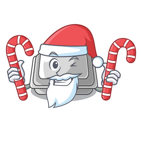 Santa with candy plastic box in the character closet vector illustration Banco de Imagens - 123120217