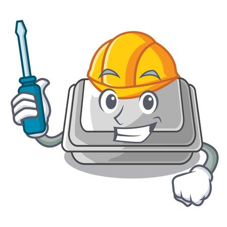 Automotive plastic box in the character closet vector illustration Banco de Imagens - 123120222