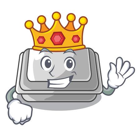 King plastic box in the character closet vector illustration Banco de Imagens - 123120234