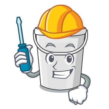 Automotive plastic tube bucket in the mascot