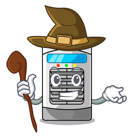 Witch air cooler isolated with the cartoon
