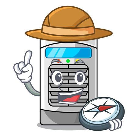 Explorer air cooler isolated with the cartoon Ilustração