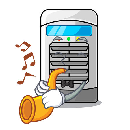 With trumpet air cooler isolated with the cartoon vector illustation