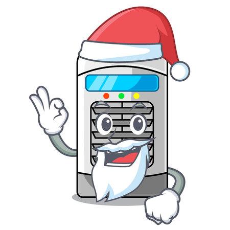 Santa air cooler in the cartoon shape vector illustration