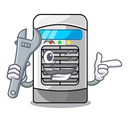Mechanic air cooler in the cartoon shape vector illustration