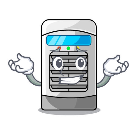 Grinning air cooler at the character table vector illustration 向量圖像