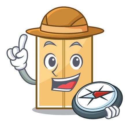 Explorer envelope mailer in the mascot closet vector illustration