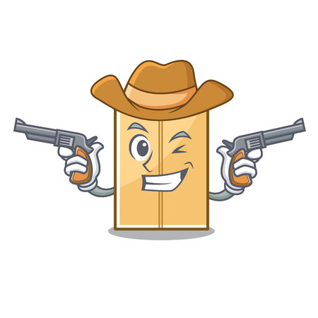 Cowboy mailer envelope in the character shape vector illustration