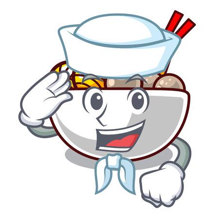 Boulettes de viande de marin frites sur l'illustration vectorielle de dessin animé plaque