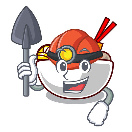 Miner meatball isolated with in the character vector illustration