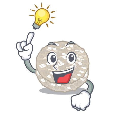 Have an idea rice cakes isolated in the mascot vector illustration