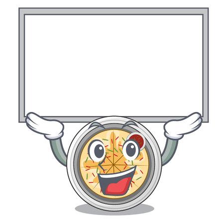 Up board buchimgae is served in cartoon bowl vector illustation Ilustração