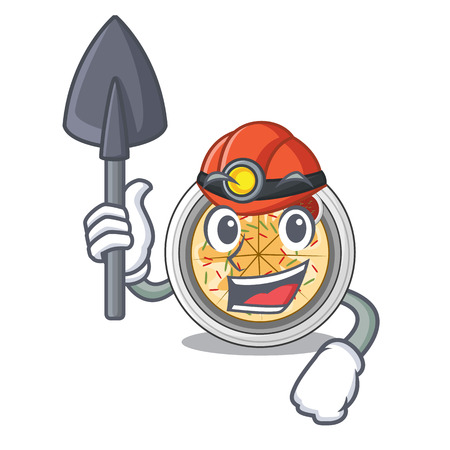 Miner buchimgae isolated with in the mascot