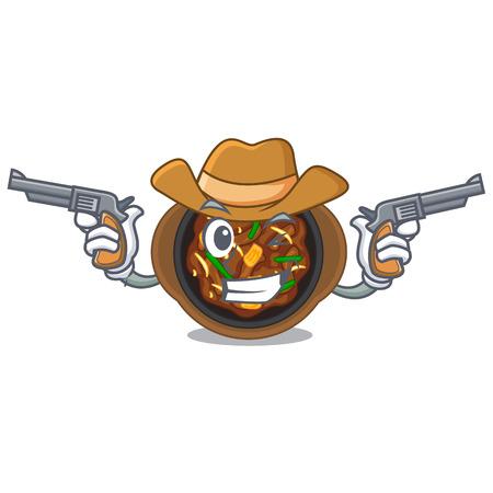 Cowboy bulgogi is served on mascot plate