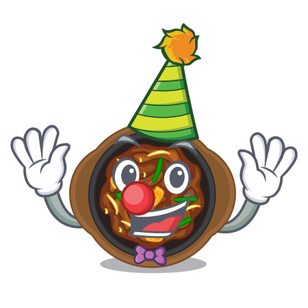 Clown bulgogi isolated with in the charactervector illustration