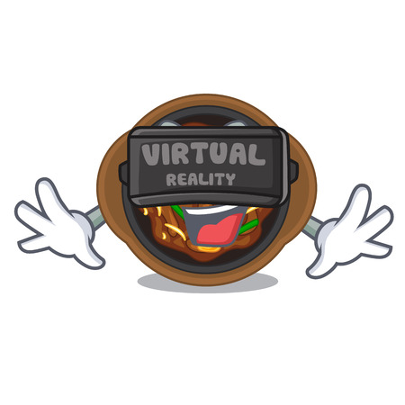 Virtual reality bulgogi in the a cartoon shape vector illustration