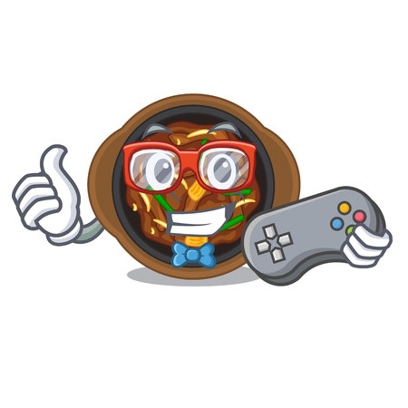 Gamer bulgogi in the a cartoon shape vector illustration