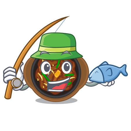 Fishing bulgogi in the a cartoon shape vector illustration