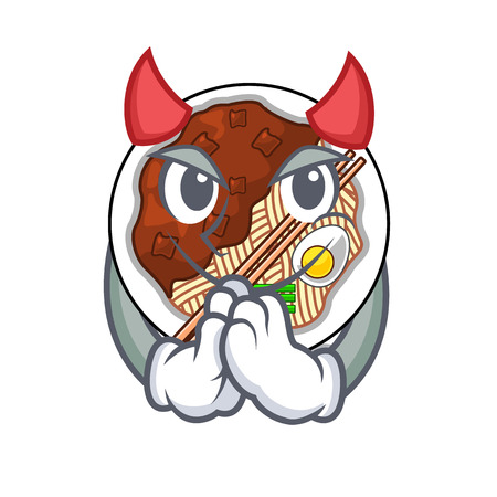 Devil jajangmyeon is placed in mascot bowl