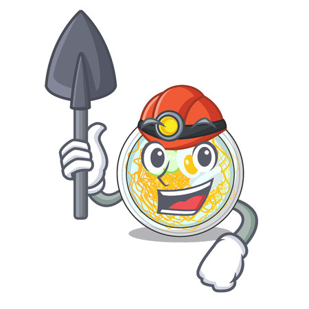 Miner naengmyeon isolated with in the character vector illustration
