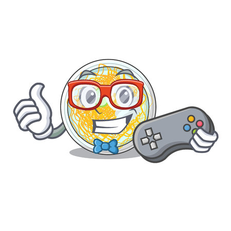 Gamer naengmyeon isolated with in the character vector illustration