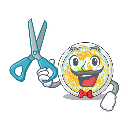 Barber naengmyeon served on a mascot board vector illustration