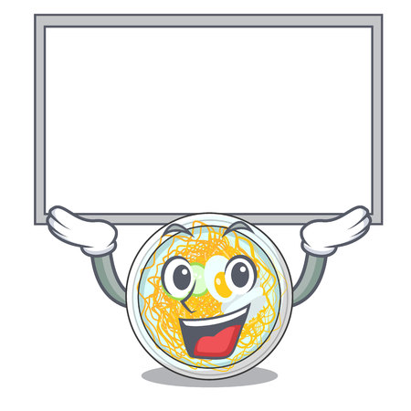 Up board naengmyeon served on a mascot board vector illustration
