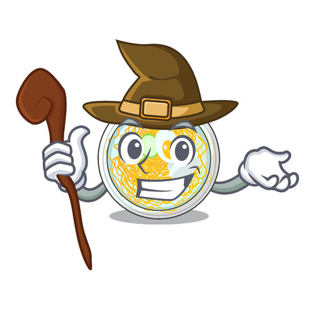 Witch naengmyeon isolated with in the character vector illustration