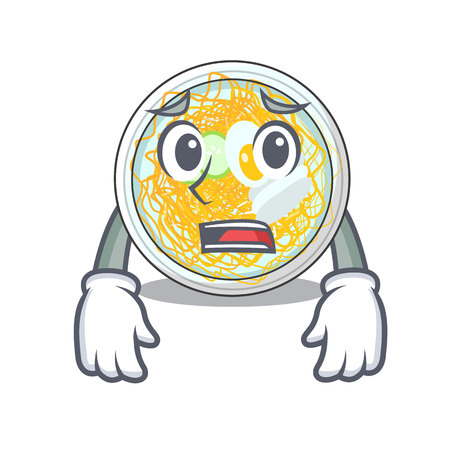 Afraid naengmyeon isolated with in the character vector illustration
