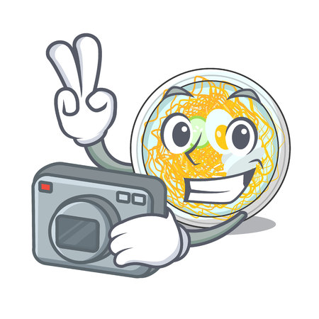 Photographer naengmyeon isolated with in the character vector illustration