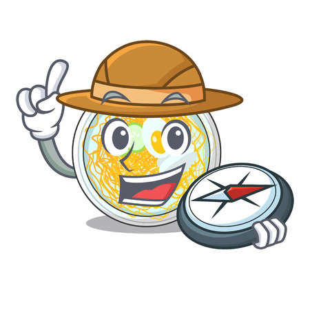 Explorer naengmyeon isolated with in the character vector illustration Ilustração