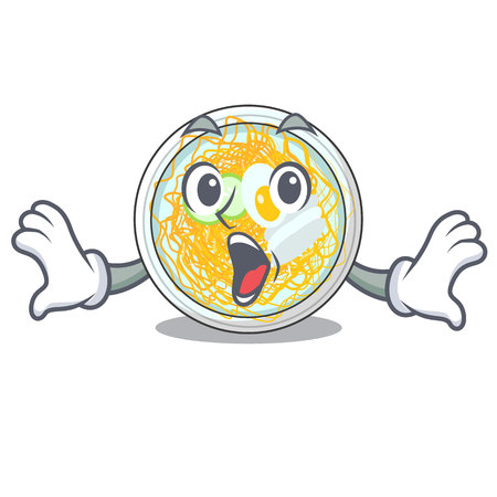 Surprised naengmyeon isolated with in the character vector illustration Ilustração