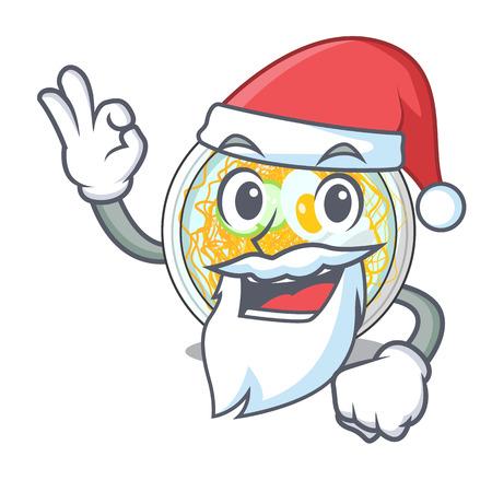 Santa naengmyeon in the a shape cartoon vector illustration Ilustração
