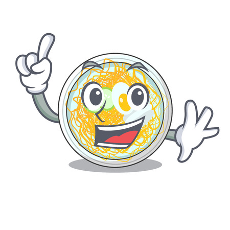 Finger naengmyeon in the a shape cartoon vector illustration Vettoriali