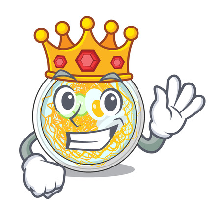 King naengmyeon in the a shape cartoon vector illustration