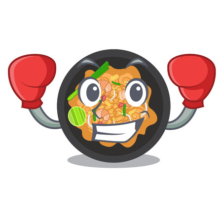 Boxing pat thai isolated in the cartoon vector illustration
