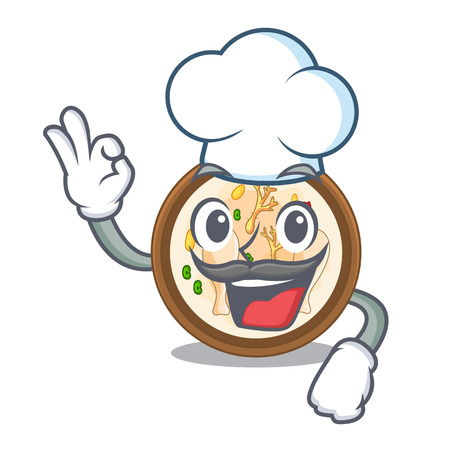 Chef samgyetang isolated with in the mascot vector illustration