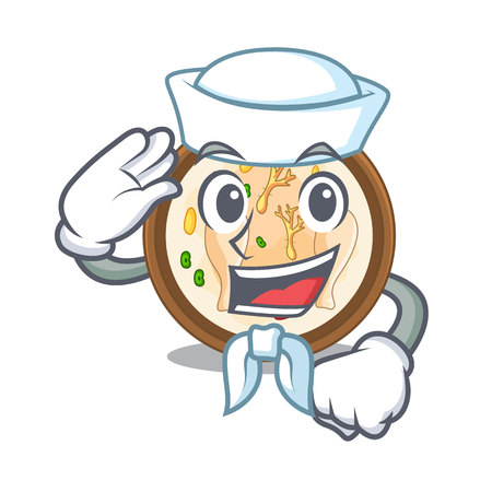 Sailor Samgyetang served in hot cartoon bowl