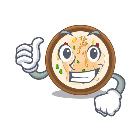 Thumbs up samgyetang isolated with in the mascot vector illustration