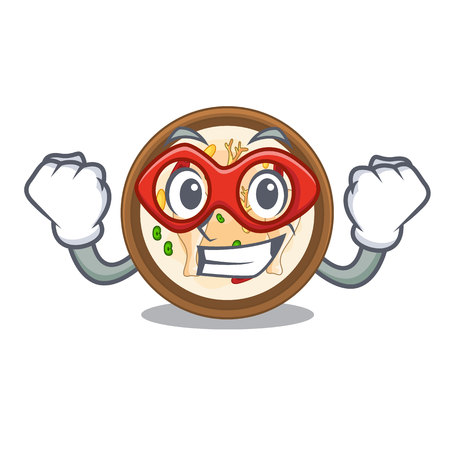 Super hero samgyetang isolated with in the mascot Illustration