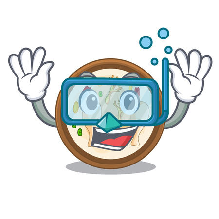 Diving samgyetang isolated with in the mascot vector illustration Çizim