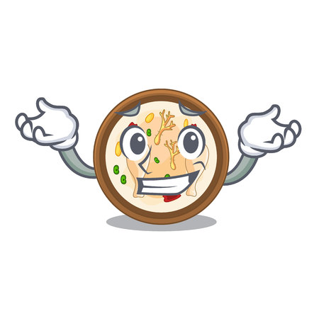 Grinning samgyetang isolated with in the mascot vector illustration