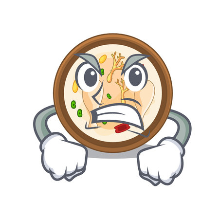 Angry samgyetang in the a character shape vector illustration Stock Illustratie