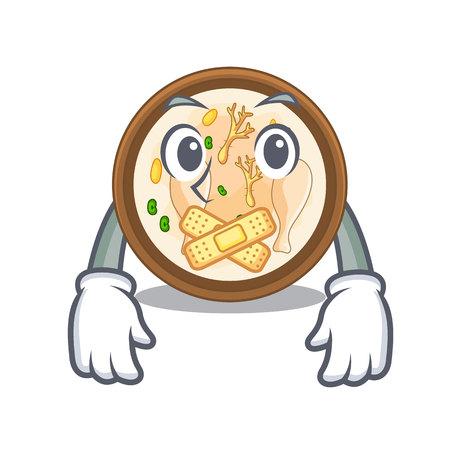 Silent samgyetang in a the cartoon plate