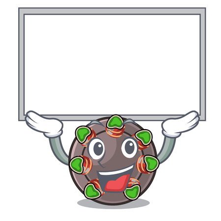 Up board escargot isolated with in the mascot vector illustration