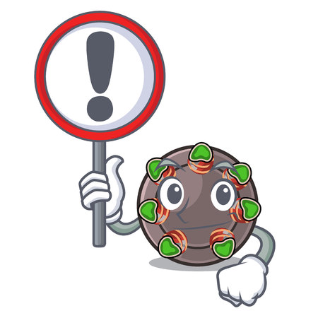 With sign escargot isolated with in the mascot vector illustration