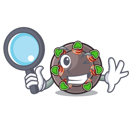 Detective escargot is presented on character plates Illustration