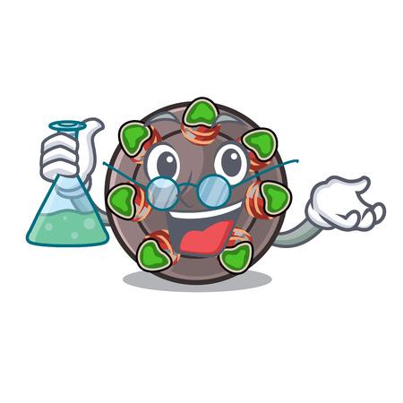 Professor escargot is presented on character plates vector illustration