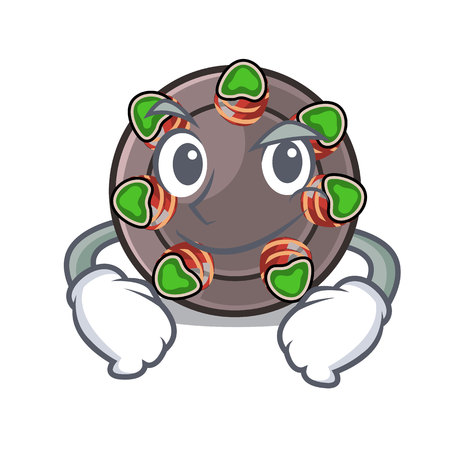 Smirking escargot is presented on character plates vector illustration 向量圖像