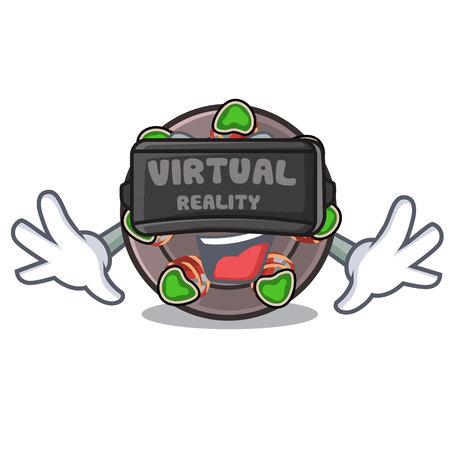 Virtual reality fried escargot in a cartoon hot pan